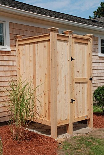 Outdoor Shower Enclosure Cedar House Mount