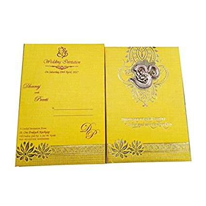 Dev Cards Premium Wedding Cards With Ganesha Om Design With Hindi