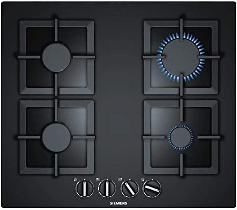 Opinión sobre Siemens EP6A6PB20 Integrado Encimera de gas Negro hobs - Placa (Integrado, Encimera de gas, Vidrio, Negro, hierro fundido, 1000 W)