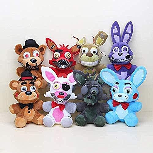 Soft Toy 8 Pieces s Five Nights at Freddy s 5 FNAF Plush Toys 10 ightmare Series Freddy Foxy Mangle Springtrap Bonnie Phantom Foxy Dolls