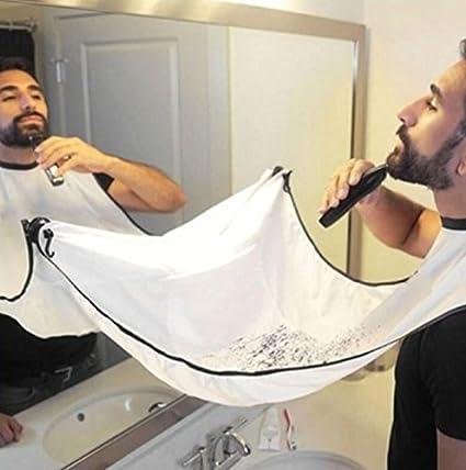 Tout neuf 1pc bavoir homme rasoir imperméable à l'eau barbe soins rasoir tablier de rasage de cheveux (Couleur : White, Taille : 120x77cm) Yannay