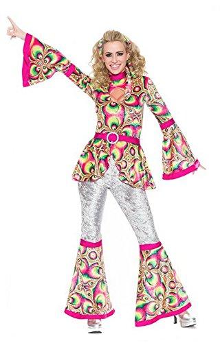[Delicious Dance Fever Costume, Multi, 1X] (70s Plastic Halloween Costumes)