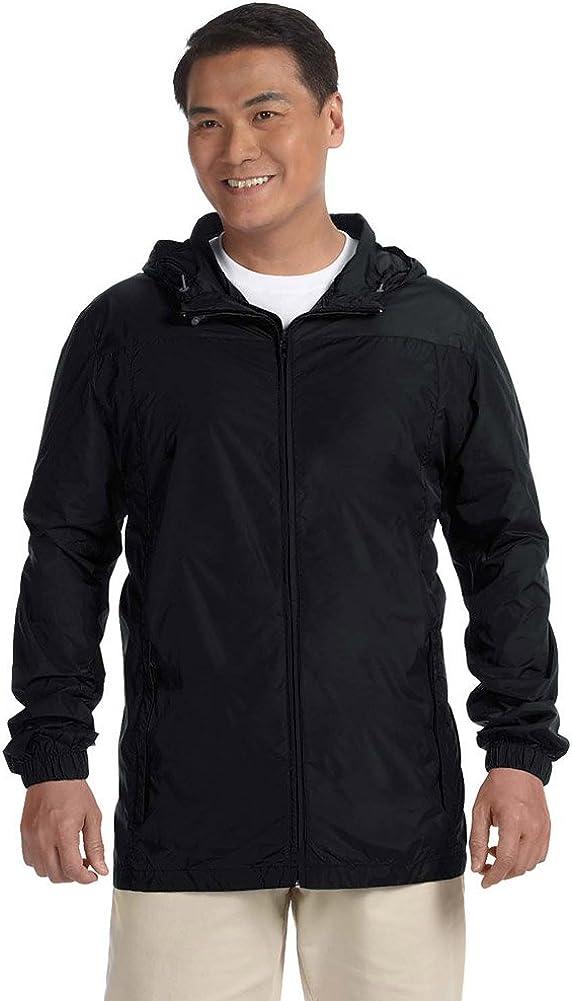 XX-Large Harriton Mens Water-Resistant Essential Rainwear Black