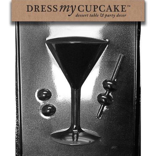 Dress My Cupcake Chocolate Candy Mold, Martini Glass Side 1