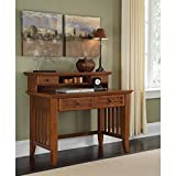 Home Style 5180-162 Arts and Crafts Student Desk and Hutch, Cottage Oak Finish