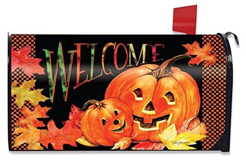 Briarwood Lane Pumpkin Pals Halloween Magnetic Mailbox Cover Jack o'Lanterns Standard