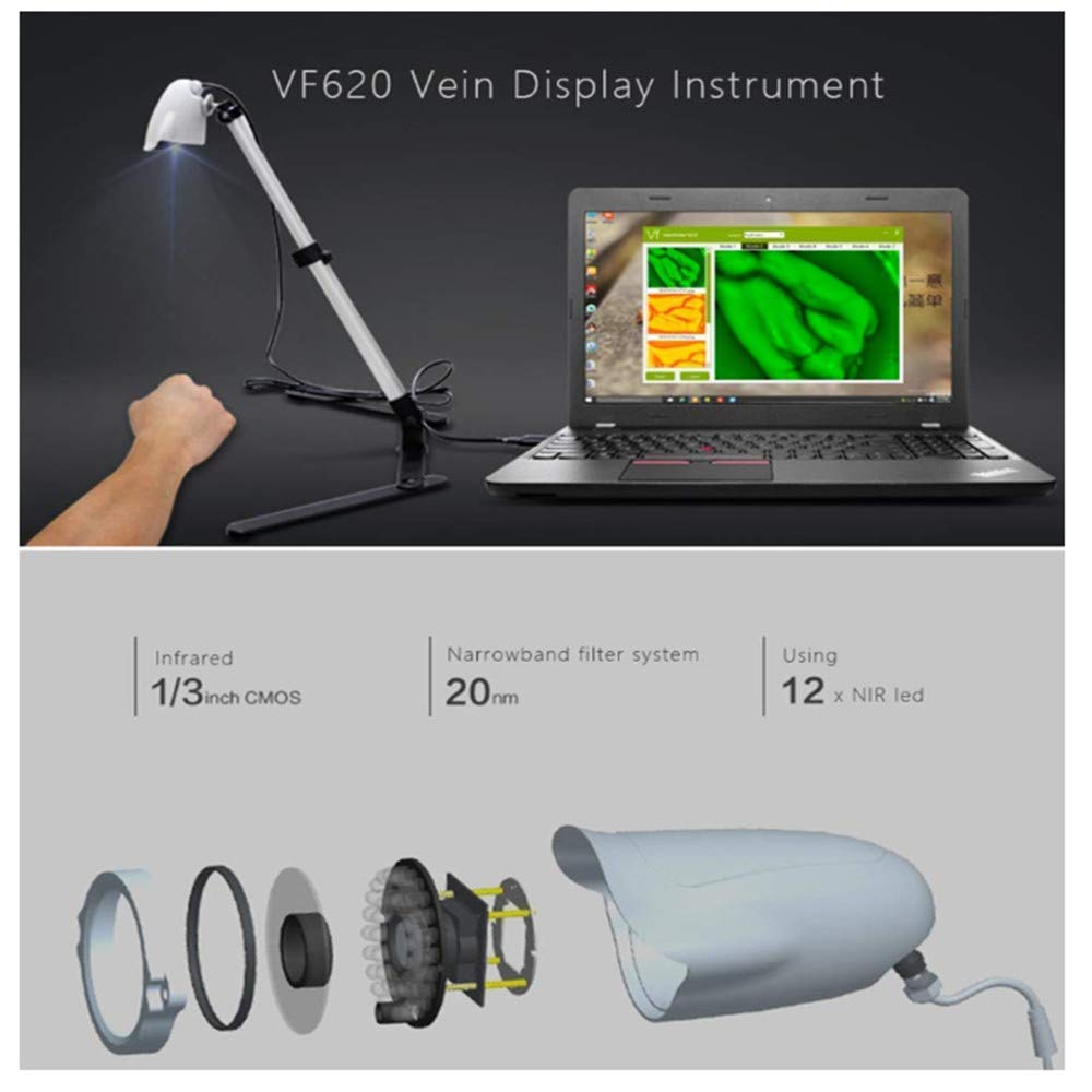 Venous viewer display imaging medical vein indicator adult child hand and foot leg vein detector adjustable by SHUIHU (Image #6)