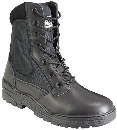 Black Pro Patrol Boots Leather Army Combat Tactical Cadet Security Military...