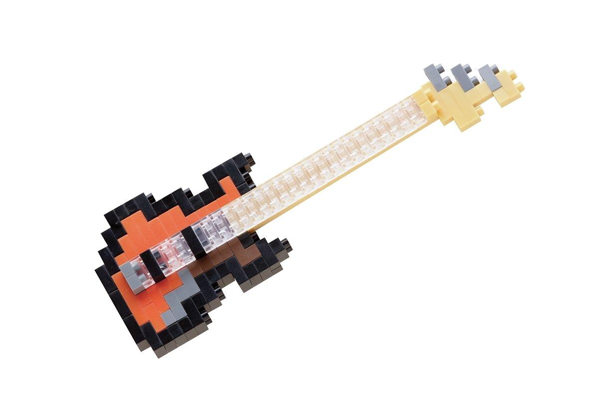 mittel 130 Teile Minibaustein 3D-Puzzle nanoblock NBC-051 Electric Bass Mini Collection Serie Schwierigkeitsstufe 2