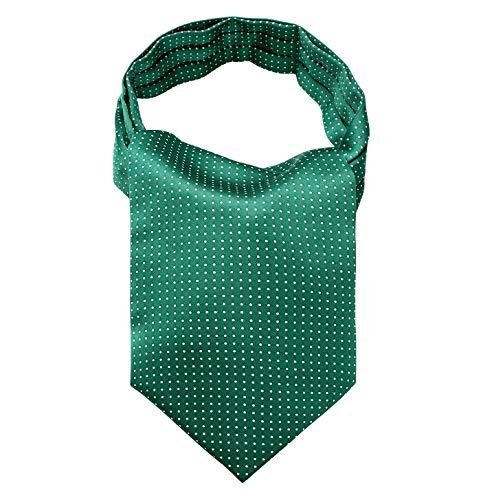 HISDERN Men's Polka Dot Jacquard Woven Self Cravat Tie Ascot -