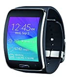 Samsung Galaxy Gear S R750 R750T Smart Watch, Black,(Certified Refurbished) (Black-Silver)