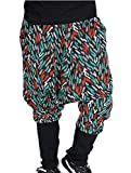 Boys Hip-Hop Drop-Crotch Baggy Pants (3T, Green)