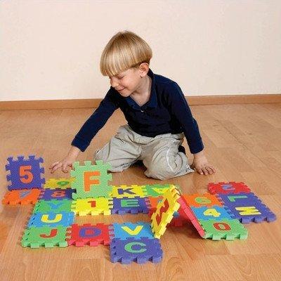 EduShape 706256 MINI EDU TILES - LETTERS - SET OF 26 LETTERS by - Edushape Tiles Edu