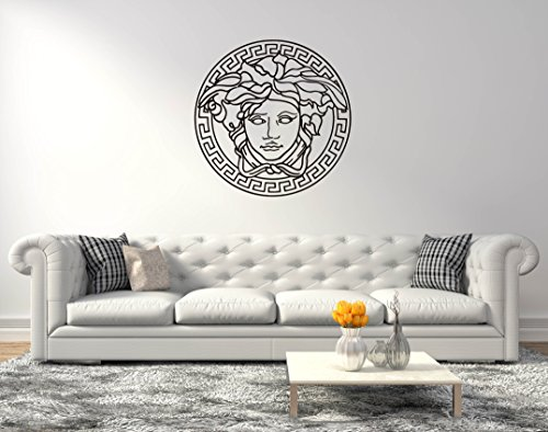 Medusa Versace logo - Wall Decal For Home Bedroom living room (Wide 40