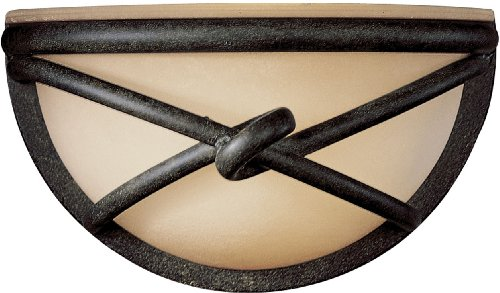 Minka Lavery Wall Sconce Lighting 971-138, Aspen II Glass Wall Lamp Fixture, 1 Light, 60 Watts, Bronze 138 Aspen Bronze Finish