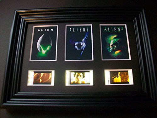 ALIEN 1 2 3 Framed Trio 3 Film Cell Display Movie Memorabilia Collectible Complements Poster Book Theater