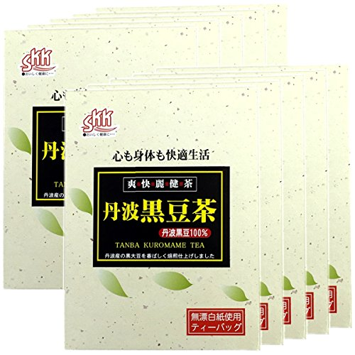 Japanese Tea Shop Yamaneen Tamba Black-Soybeans-Tea Made In 100G x 10packs by Japanese Tea Shop Yamaneen