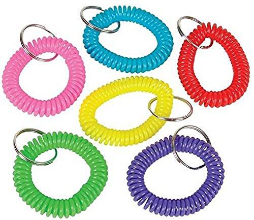 Coil Bracelet Keychains different colors