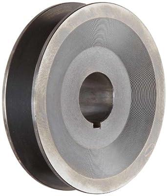 "Martin BK47 1 1/8 FHP Sheave BS, 4L/5L or B Belt Section, 1 Groove, 1-1/8"" Bore, Class 30 Gray Cast Iron, 4.45"" OD, 5575 max rpm, 3.7 Datum/4.1 Datum"