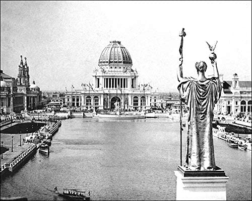 1893 WORLD/'S COLUMBIAN EXPOSITION PERISTYLE 8x10 SILVER HALIDE PHOTO PRINT