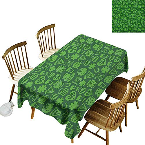 Halloween Phrases In Irish (Rectangular tablecloths in a variety of colors and sizes Can be used for parties Kiss Me Im Irish Humorous Phrase with Ale Shamrocks Hats Traditional Symbols W14 x L72 Inch)