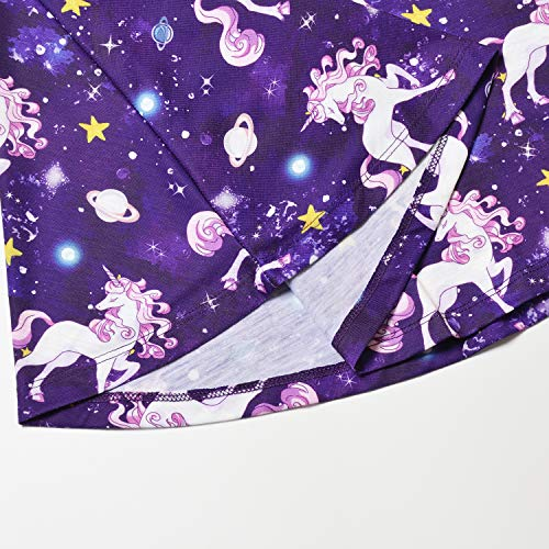 Girls Unicorn Dresses Long Sleeve Kids Starry Sky Casual Cotton Dress Outfits by Jxstar (Image #5)