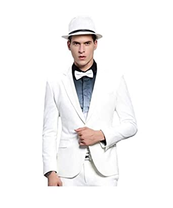 KA Beauty - Traje - para Hombre Blanco Blanco 50 Pecho/ 44W ...