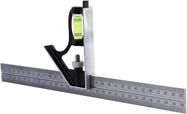 300mm Einstellbare Engineers Combination Square Set Kit Y4W1 rechtwinkliges Y7C8