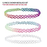24PC-Choker-Rainbow-Flowers-Stretch-Gothic-Tattoo-Henna-Necklace