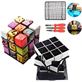 AK ART KITCHENWARE Rotatable Magic Cube Cake Molds Cooling Rack for Mirror Cake Scraper