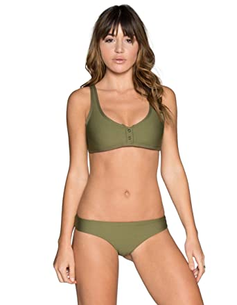 09437a51d47be Tavik Marlowe Ribbed Crop Bikini Top, ROLV-Olive, L - -: Amazon.co.uk:  Clothing