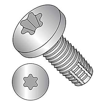 5//16 Length Star Drive Pack of 50 #2-56 Thread Size Steel Thread Cutting Screw Type F Zinc Plated Finish Pan Head