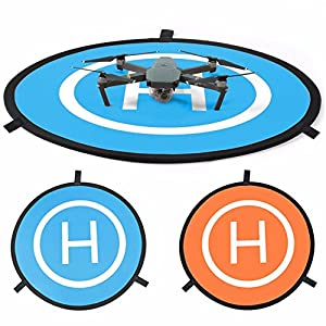 """New landing pad for RC drone size 30""""(75cm) Quadcopter launch pad, Helicopter Mini helipad ,compatible for racing drone , DJI Mavic inspire 1 2 phantom 2 3 4 pro, Parrot, GoPro Karma, Fast-Fold"""