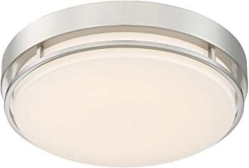 "Altair LED 14"" Flushmount Dimmable White Color Light Fixture"