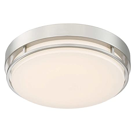 dimmable light fixture ceiling amazoncom altair led 14quot flushmount dimmable light fixture in brushed nickel finish 14