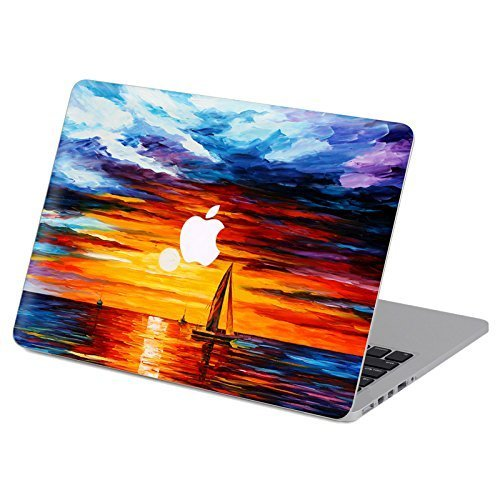 Customized Famous Painting Series Sunset Sea for Landscape Special Design Water Resistant Hard Case for Macbook Pro 15'' with Retina Display (Model A1398) by Didos Secret