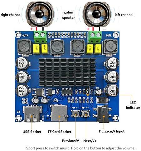 HYY-YY Circuit Board Drill Bits DC 12V-24V 2x50W Dual Channel Mini Digital Amplifier D Class 50W+50W TPA3116D2 Amplifier 50W Power Amplifier Board