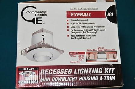 eyeball kit recessed lighting kit mini downlight housing trim 314