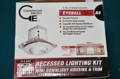 Eyeball Kit Recessed Lighting Kit Mini Downlight Housing & Trim 314 604