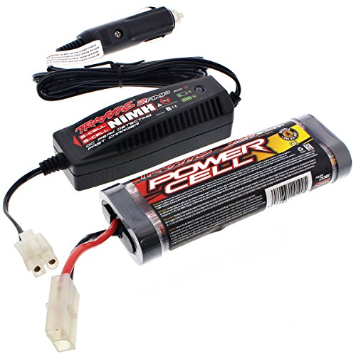 Traxxas Nitro Rustler 2.5 * 7.2V NiMH 1800 mAh BATTERY & 2 AMP CAR CHARGER * 6C ()