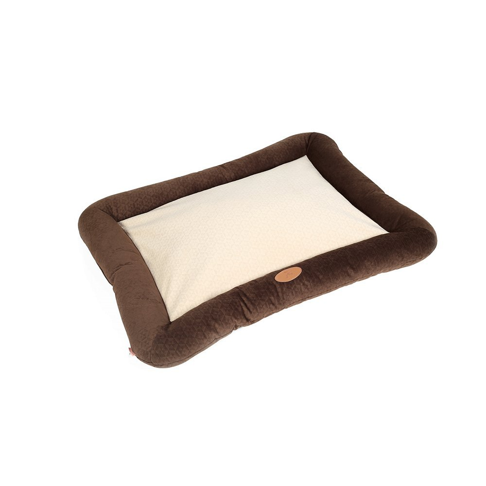 M 10080cm Huangyingui Ashable Plush Dog Bed With Removable Cover, Cuddly Dog Sofa, Brown, bluee (Size   M 100  80cm)