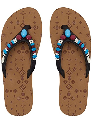 Animal Flip Flop Femme Sista Caramel Apple Brown
