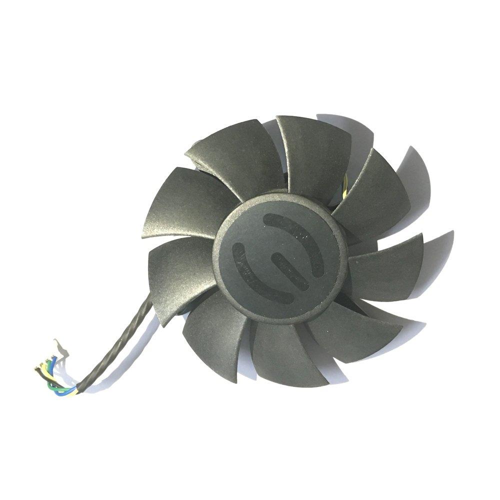 Diam/ètre 75/mm /à double roulement /à billes 4/lignes PWM Ordinateur de bureau les fans Ventilateur de refroidissement refroidisseur pour carte graphique EVGA GTX560TI GTX570/Carte vid/éo VGA comme remplacement