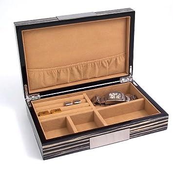 Amazoncom Zebra Wood Lacquered Jewelry Box Kitchen Dining