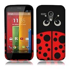 NextKin Motorola Moto G XT1032 Falcon Snap On Hard Protector Cover Case – Red Ladybug