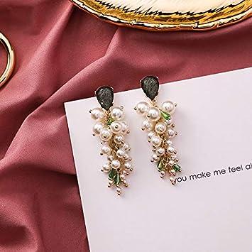 LLDEH Cadena de Perlas Pendientes Largos para Mujer Regalos para Fiestas de Chicas Joyas de Cristal