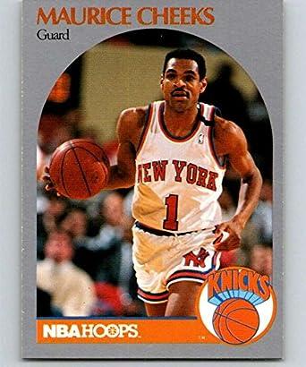49800606a916 Amazon.com  1990-91 Hoops Basketball  202 Maurice Cheeks New York ...