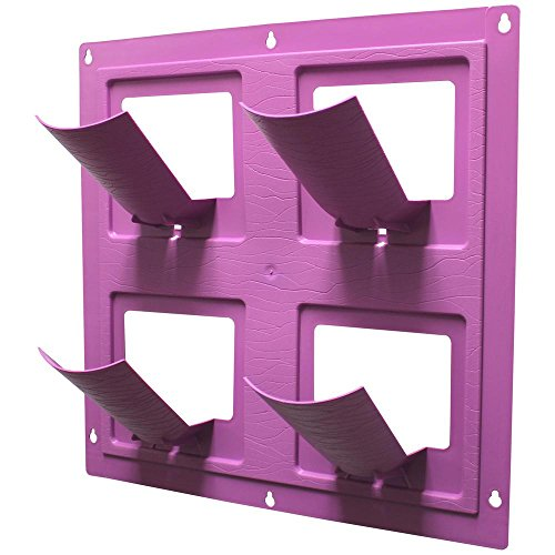 wallflowers-17-in-square-resin-living-wall-hanging-flower-planter-4-pot-purple