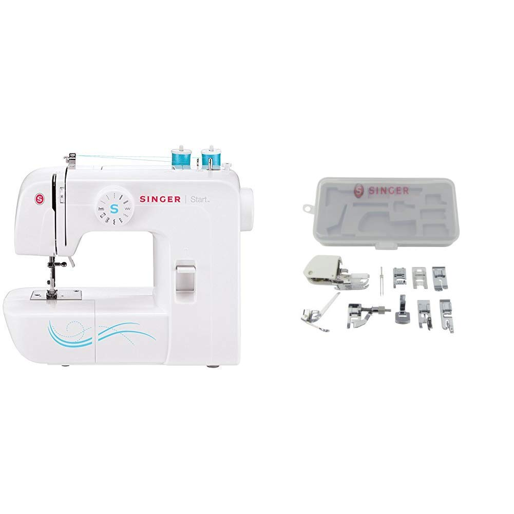 Amazon.com: SINGER | Start 1304 Sewing Machine with Accessory Kit,  Including 9 Presser Feet, Twin Needle, and Case