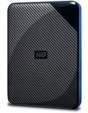 WD Gaming-Speicher 4 TB mobile externe Festplatte schwarz blau für PS4, kompatibel mit PS4 Pro ab Firmware 4.50 - WDBM1M0040BBK-WESN
